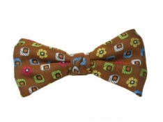 Ready Tied Bow Tie of Burnt Orange Design